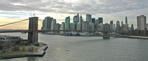 view of brooklyn bridge from williamsburg