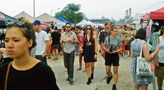 Smorgasburg market in Williamsburg, brooklyn