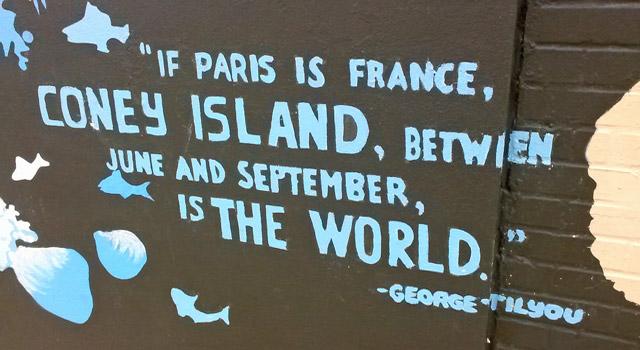 mural at coney island brooklyn
