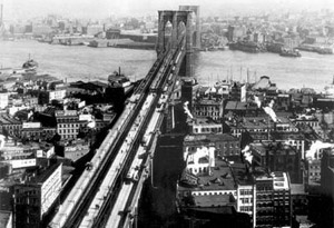 historic image of brooklyn bridge