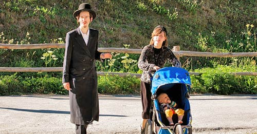 young hasidic family