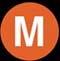 NYC Subway M line icon