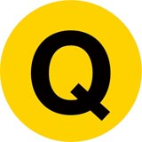 NYC Subway Q line icon