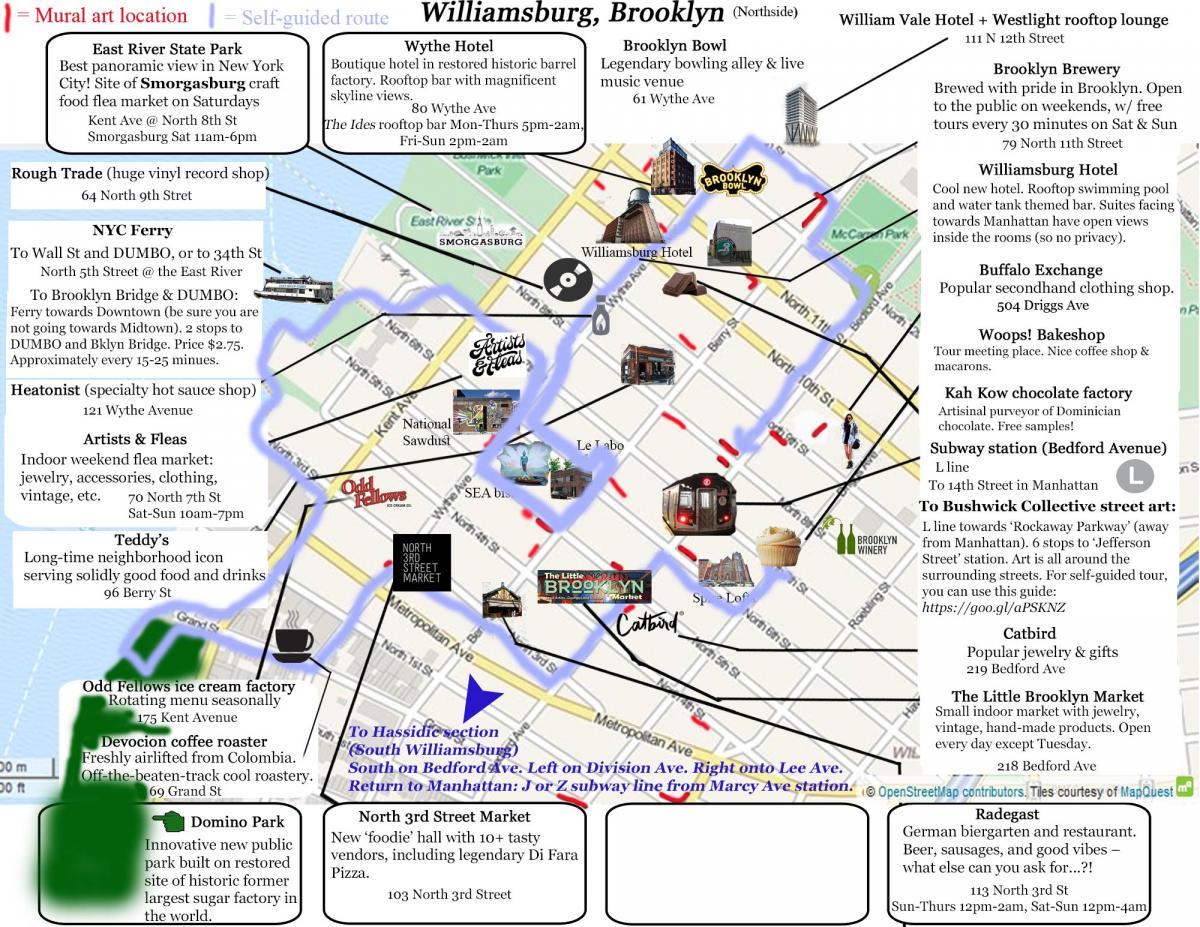 map of greenpoint brooklyn ny Williamsburg Visitor Map Self Guided Tour Brooklyn map of greenpoint brooklyn ny